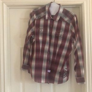 Harley Davidson long sleeve button down shirt